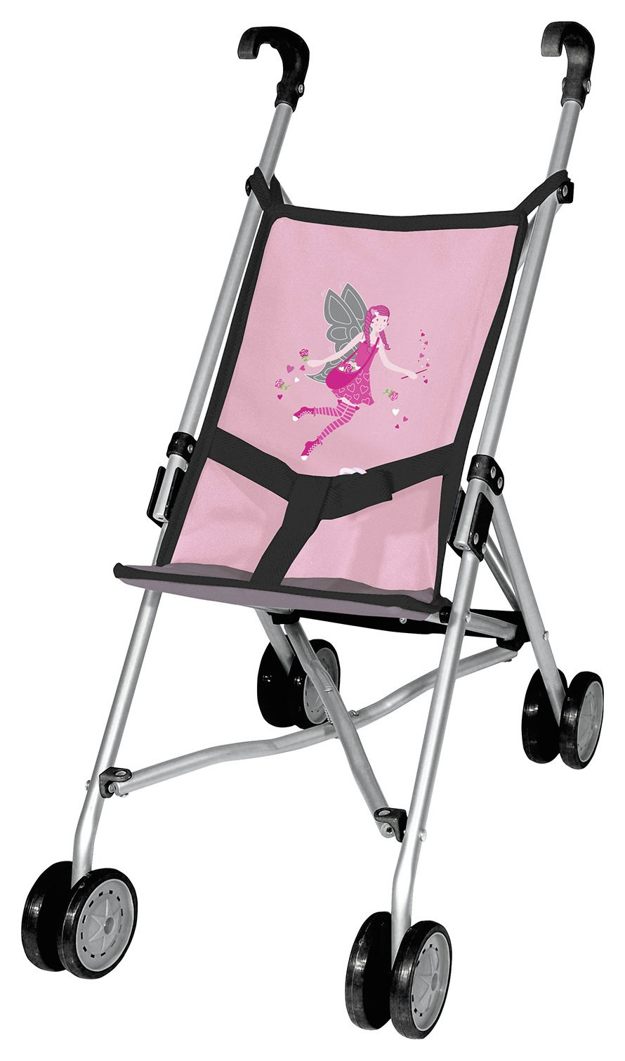 Bayer - Dolls Buggy Soft Pink Grey
