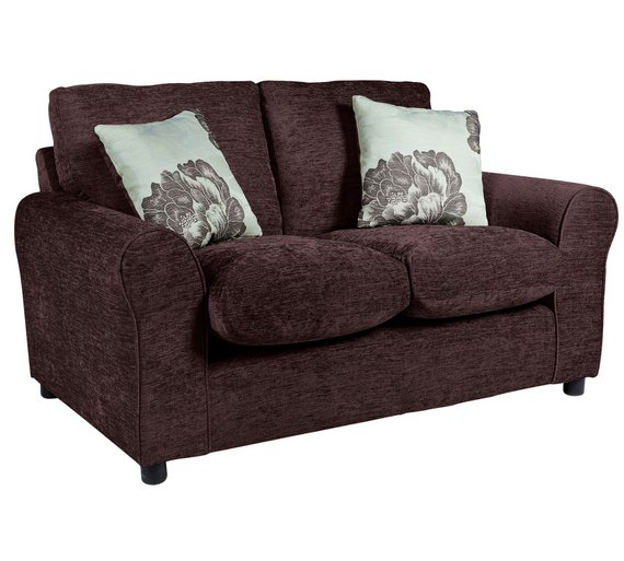 buy home tessa compact 2 seater fabric sofa choc at. Black Bedroom Furniture Sets. Home Design Ideas