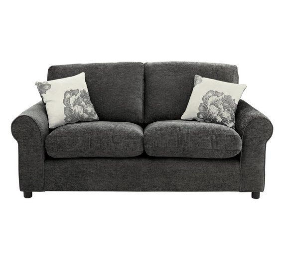 buy home tessa compact 3 seater fabric sofa charcoal at. Black Bedroom Furniture Sets. Home Design Ideas
