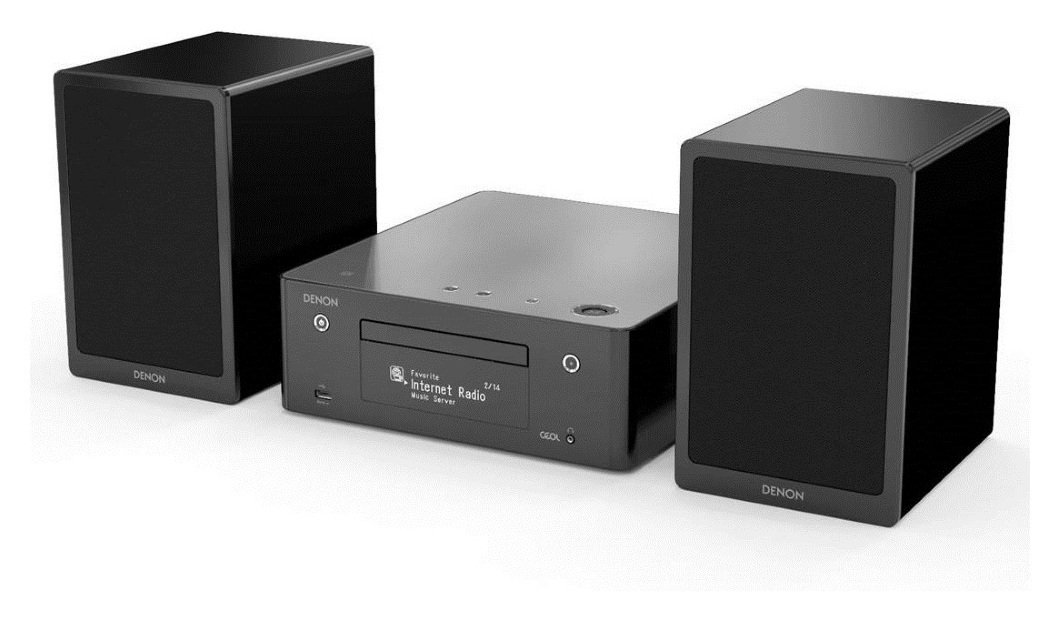 Denon - CEOL N9 Mini Hifi System with Speakers - Black