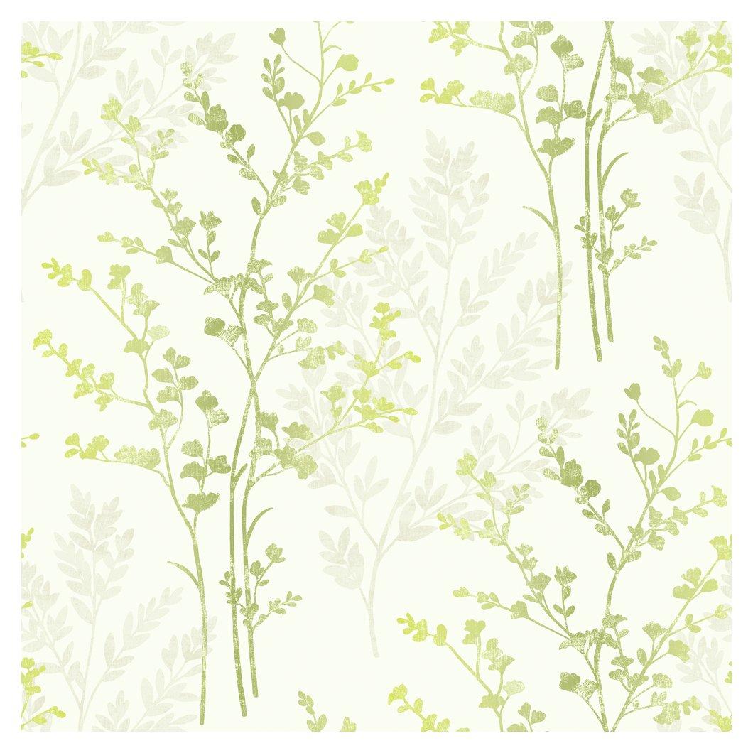 Image of Arthouse Imagine Fern Motif Green Wallpaper.