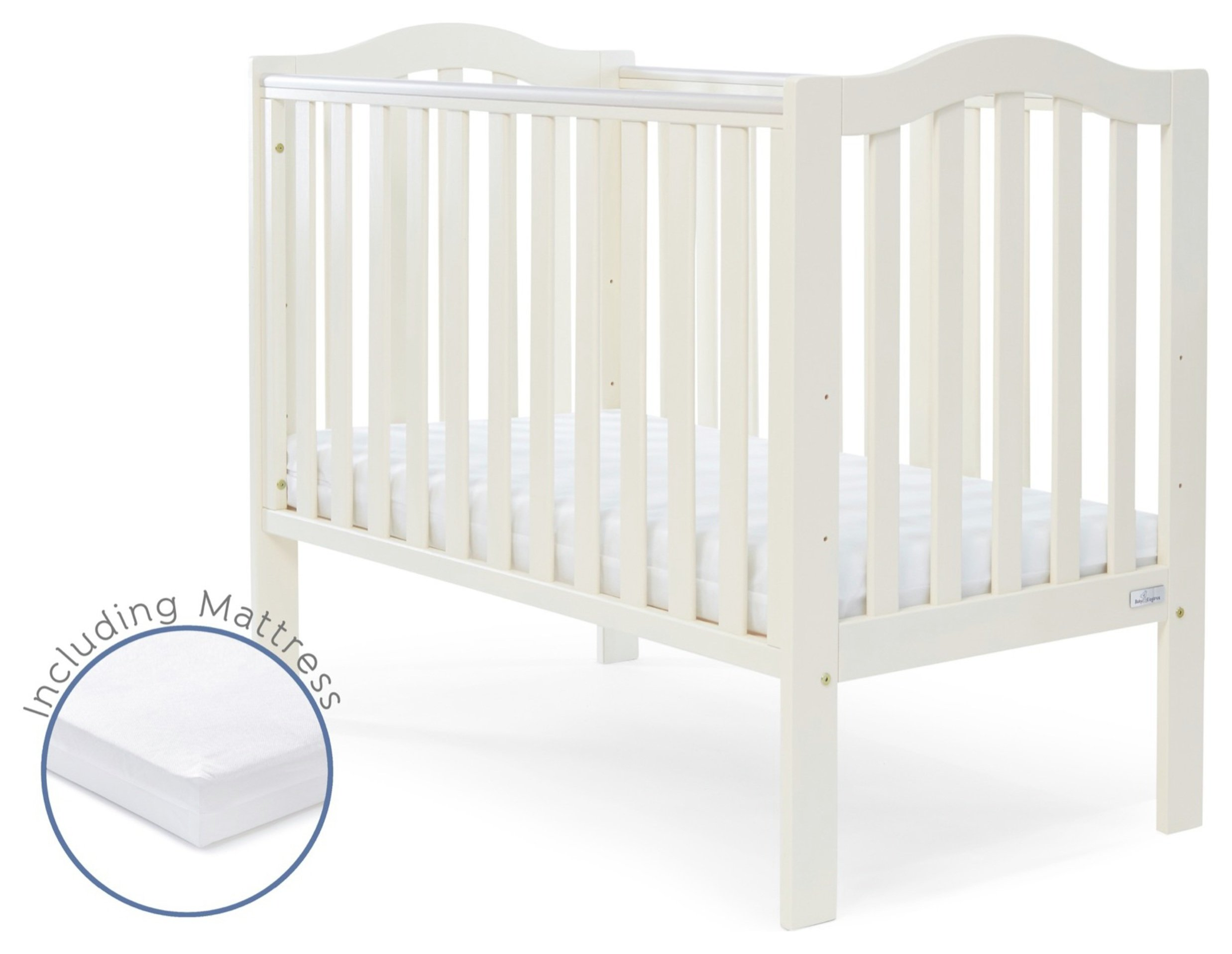 Image of Baby Elegance Sarah Cot and Mattress - Cream