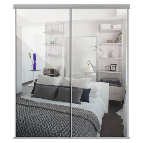 Buy Sliding Doors And Track W1793 Silver Frame Mirror