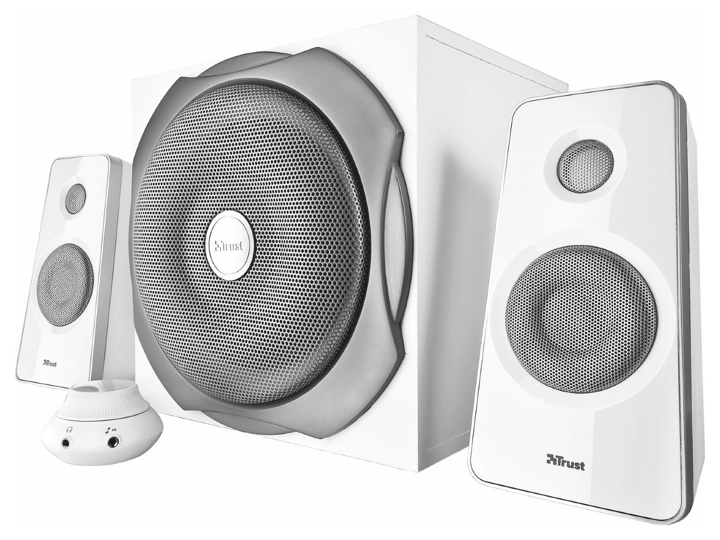 computer speakers white. trust tytan 2.1 speakers - white computer