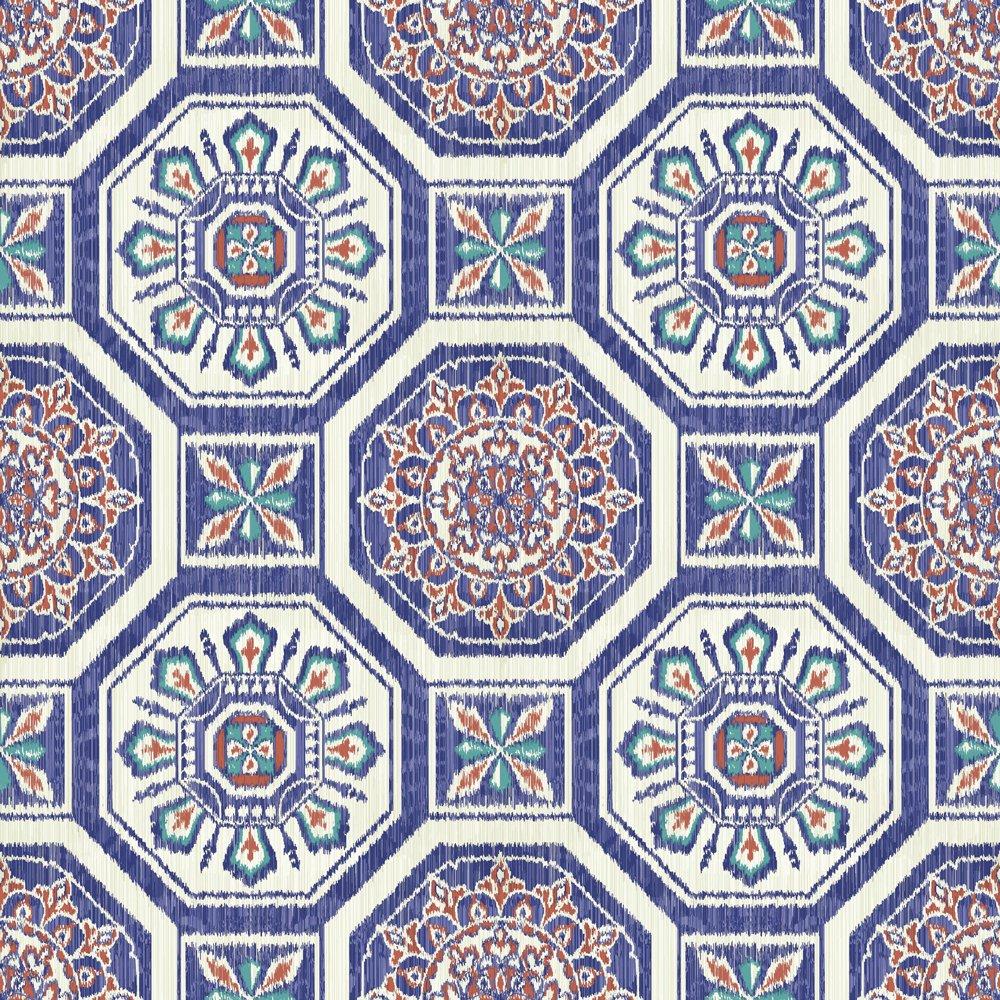 Image of Arthouse Imagine Brasillia Blue Wallpaper.