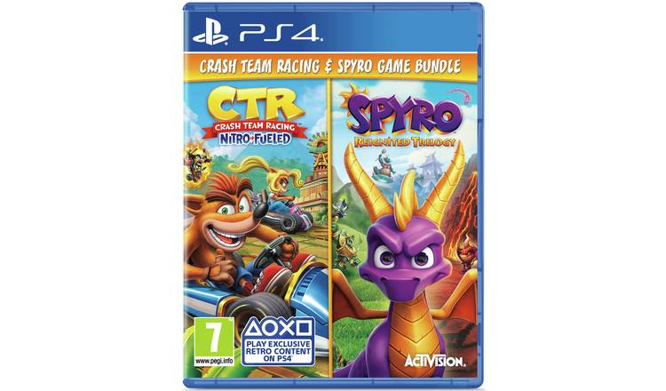 Crash Team Racing & Spyro Reignited Trilogy PS4 Double Pack