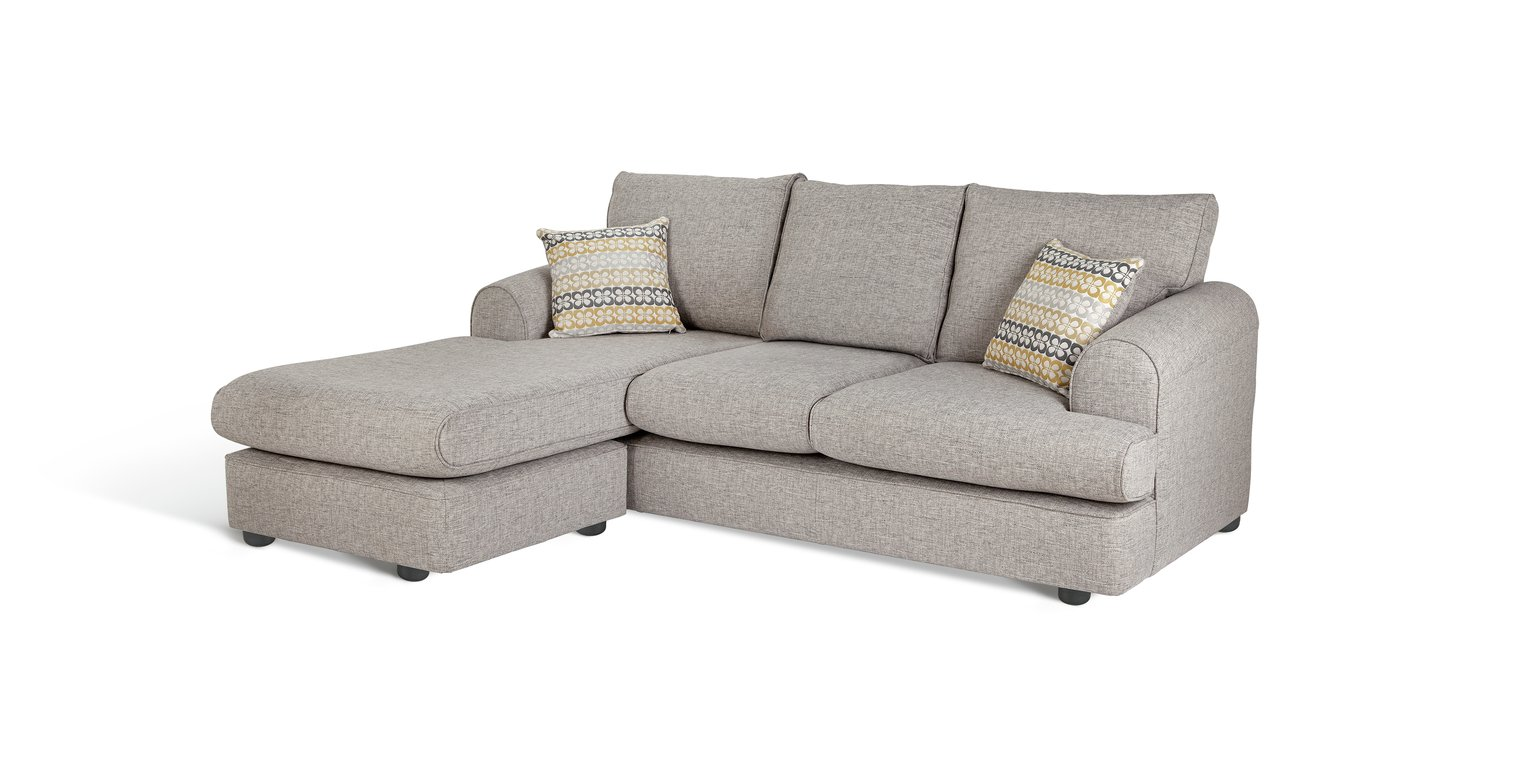 Argos Home Atticus Left Corner Fabric Chaise Sofa - Grey