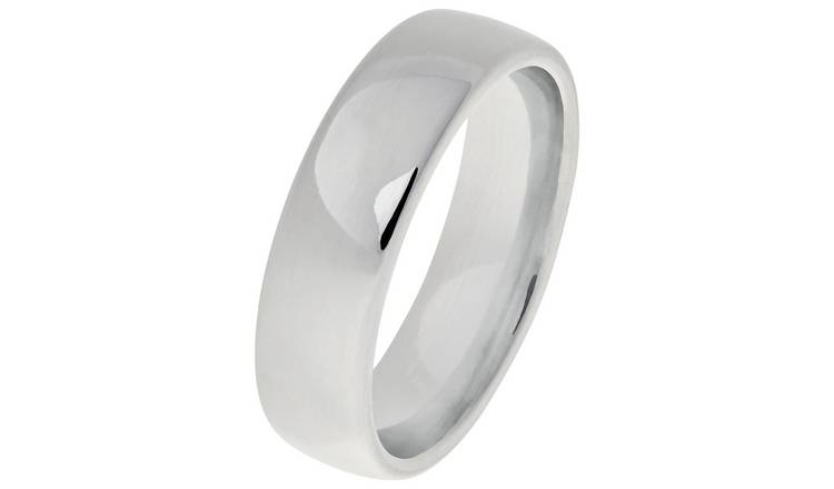 Revere Sterling Silver Heavyweight Wedding Ring - 6mm - Q