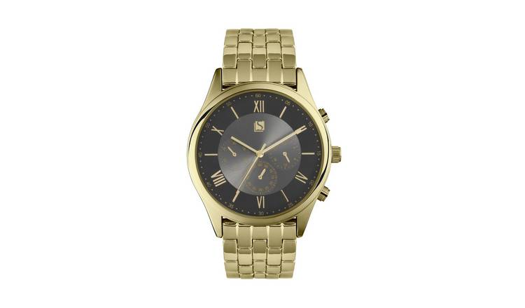 Spirit Men's Gold Plated Stainless Steel Bracelet Watch