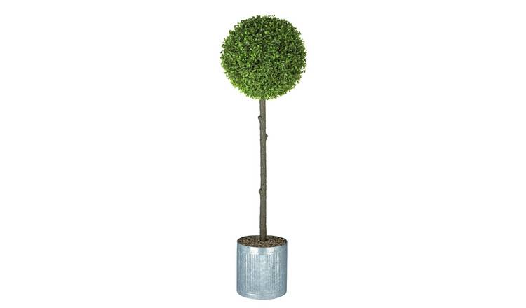 Argos Home Faux Tea Leaf Topiary & Galvanised Pot