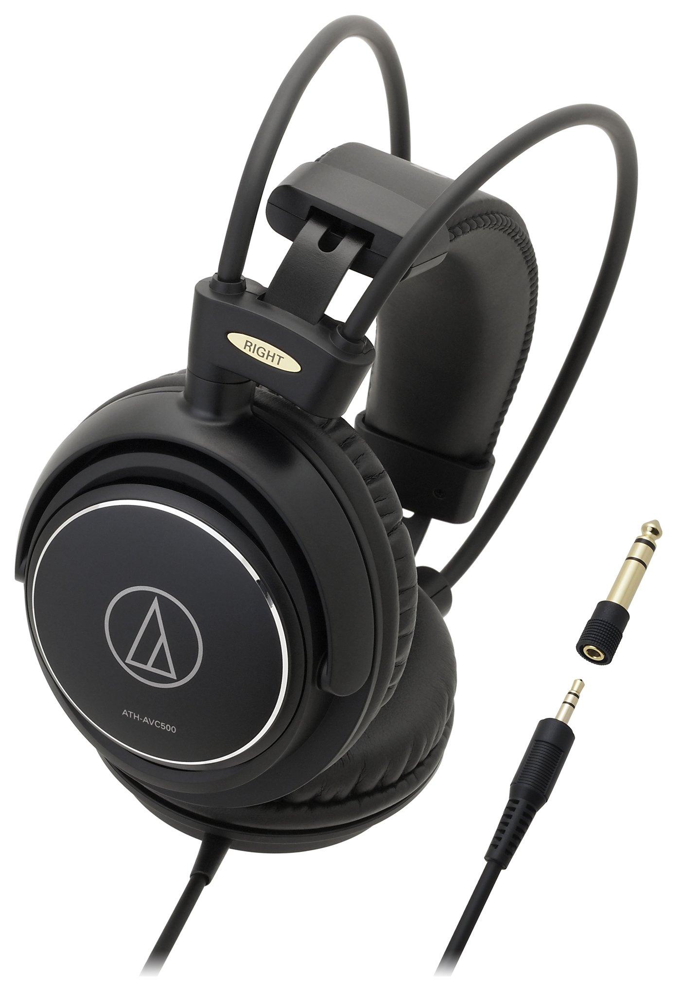 Audio Technica ATH-AVC500 Over-Ear Headphones - Black.