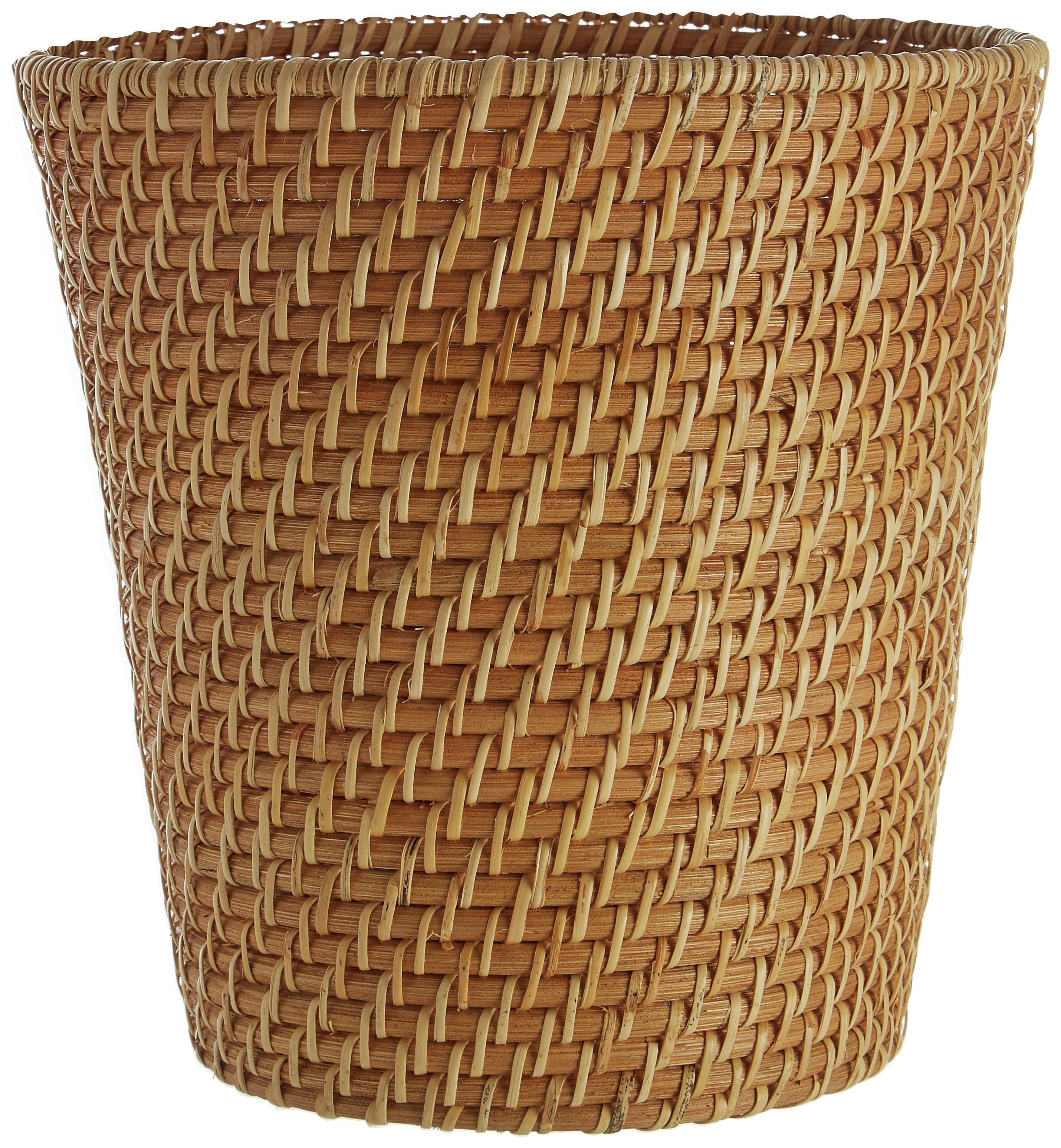 Complements Rattan Waste Basket.
