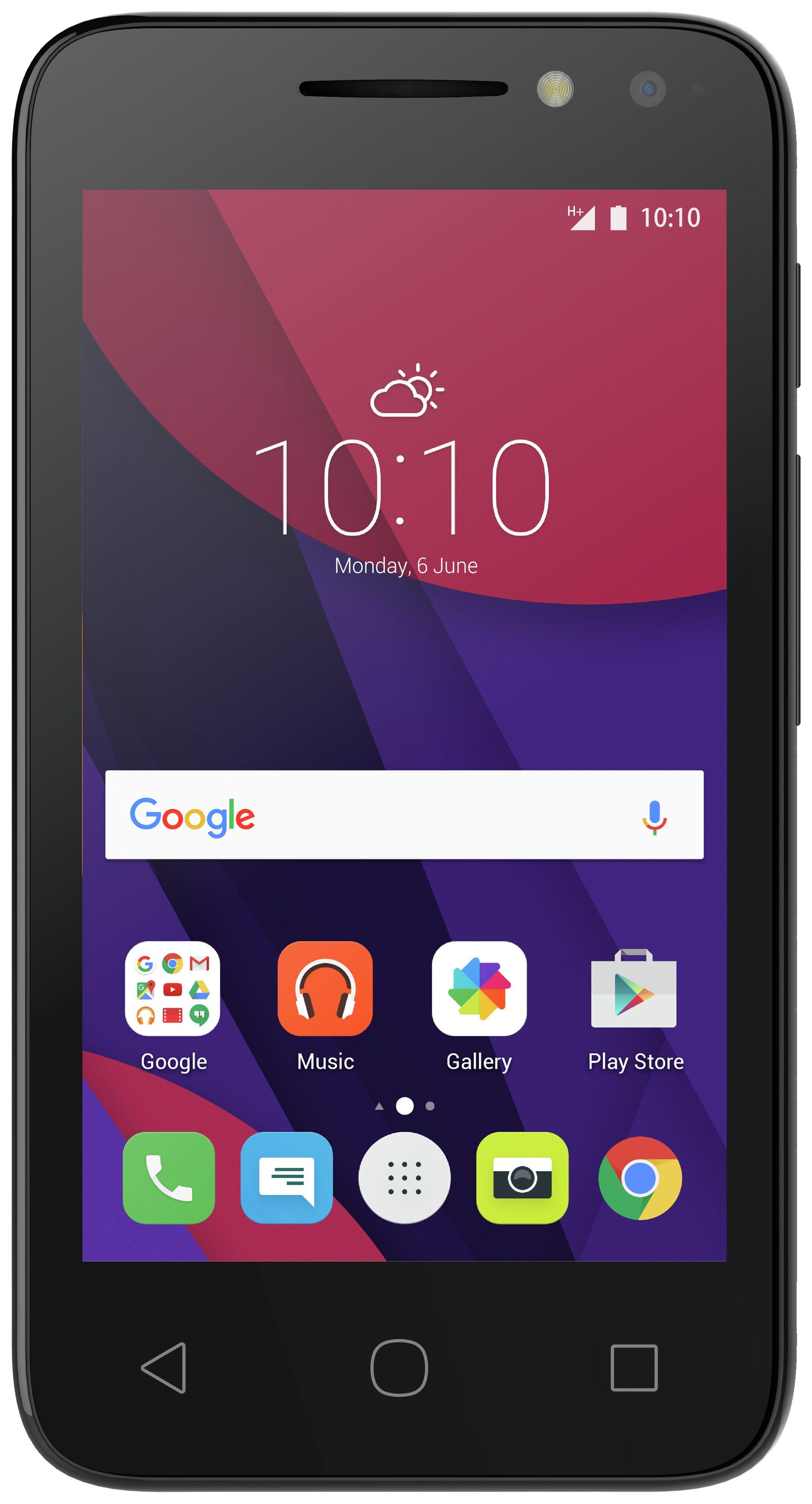 Alcatel Virgin Alcatel PIXI 4 (4) 3G Mobile Phone - Black.