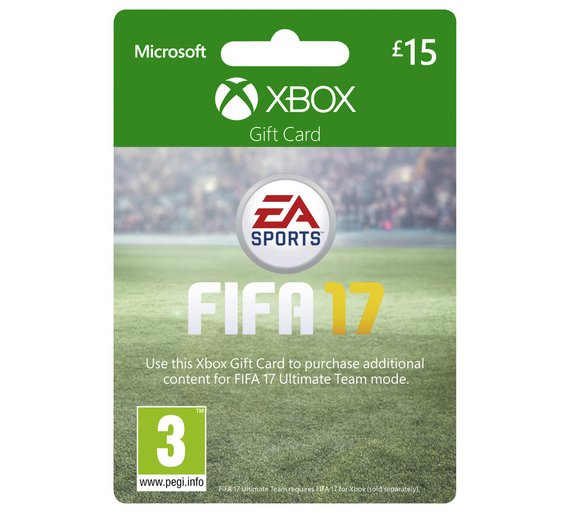 buy fifa 17 xbox 15 gift card at your. Black Bedroom Furniture Sets. Home Design Ideas