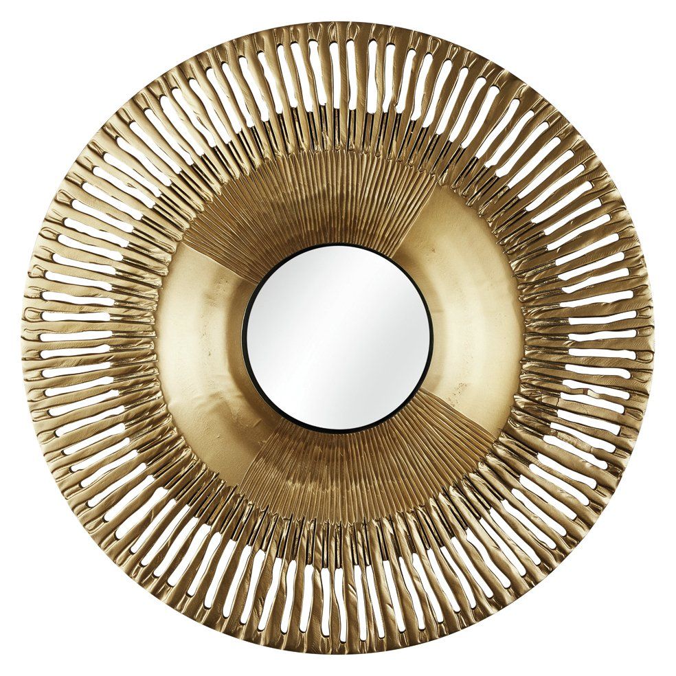 Image of Arthouse Collection Circle Wall Mirror - Gold