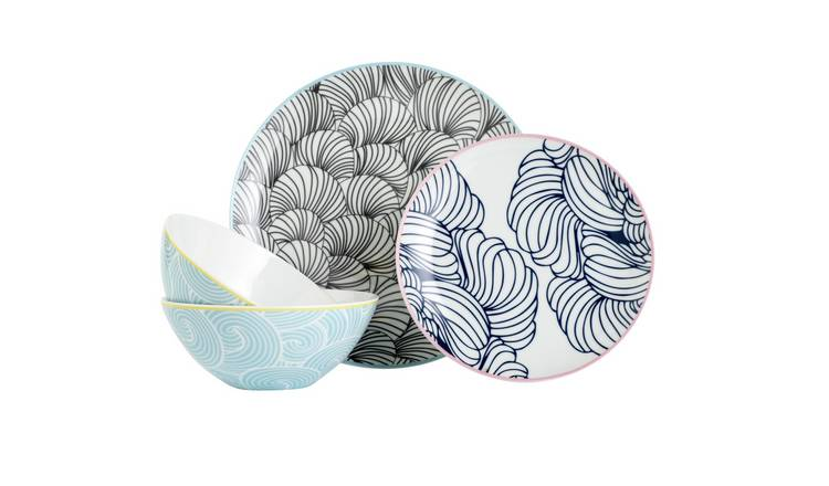 Argos Home Oriental 12 Piece Dinner Set