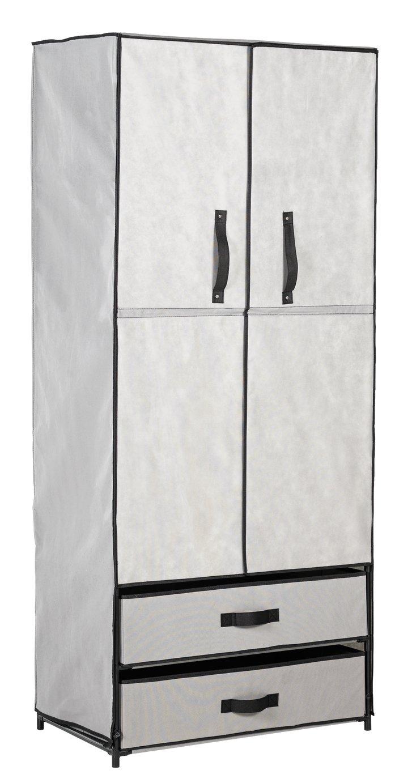 Argos Home Double Metal Framed Fabric Wardrobe - Grey