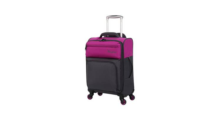 it Luggage Soft 4 Wheel Cabin Duo Tone Purple Suitcase