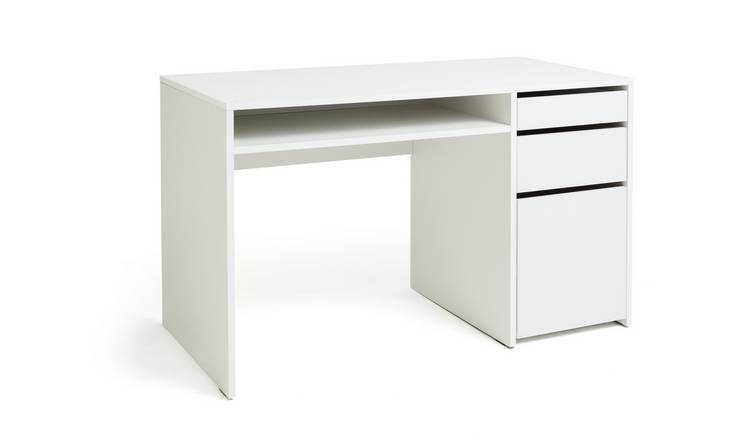Argos Home Pepper 2 Drawer Pedestal Desk - White