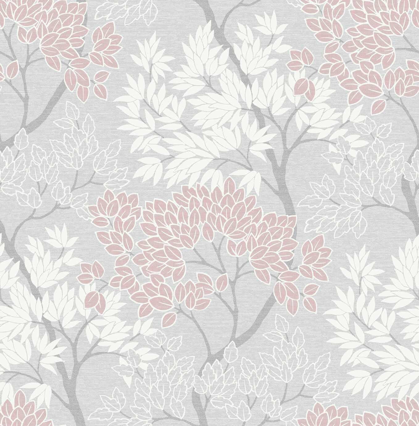 Fresco Lykke Tree Pink Wallpaper