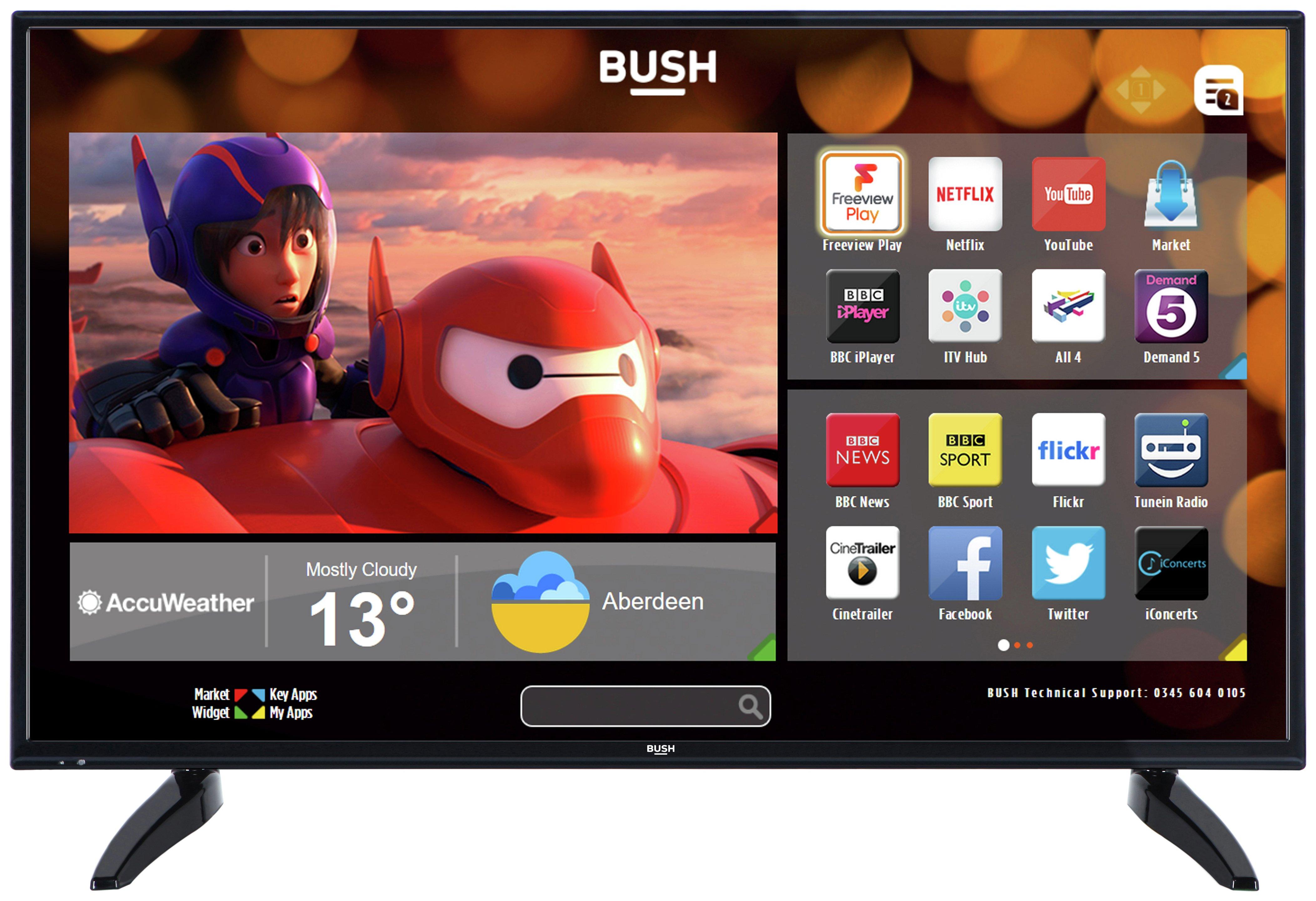 Bush LED40287 40 Inch Full HD DLED Smart TV. - Black