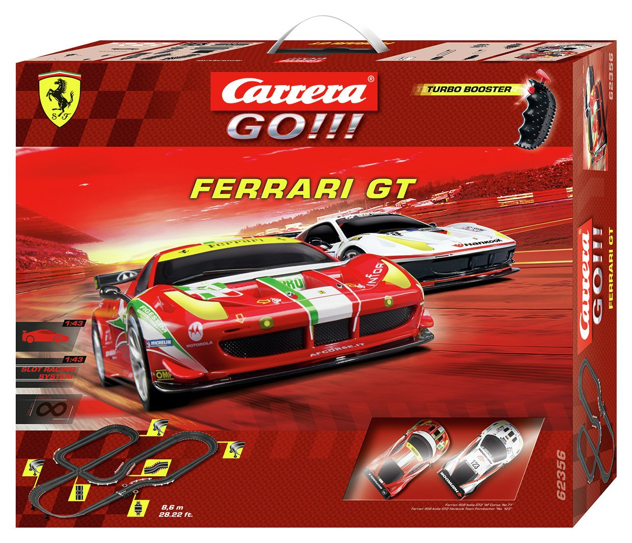 Image of Ferrari GT 8.6m Slot Racing Set.