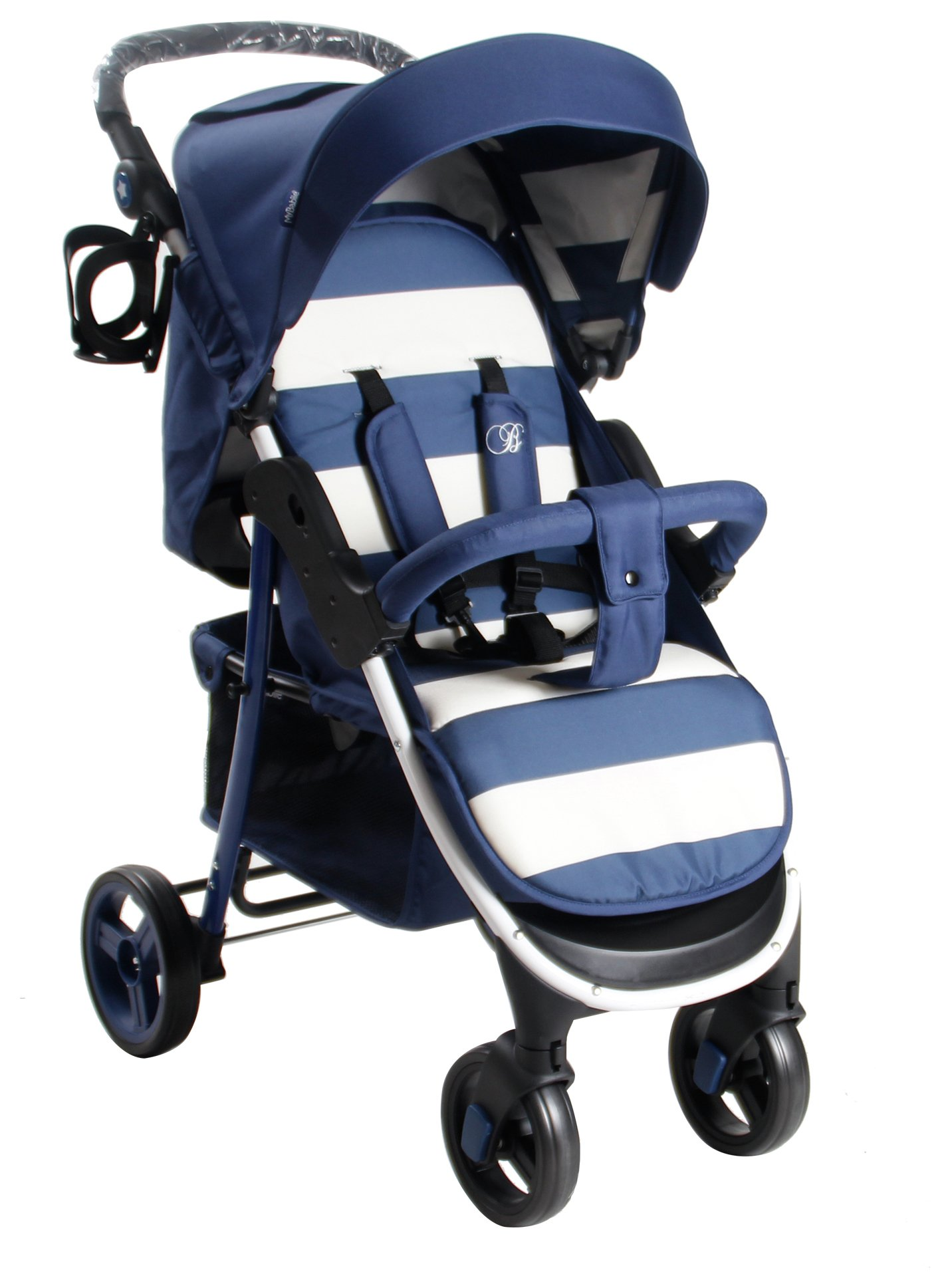 my babiie billie faiers mb99plus travel system in blue stripes. Black Bedroom Furniture Sets. Home Design Ideas