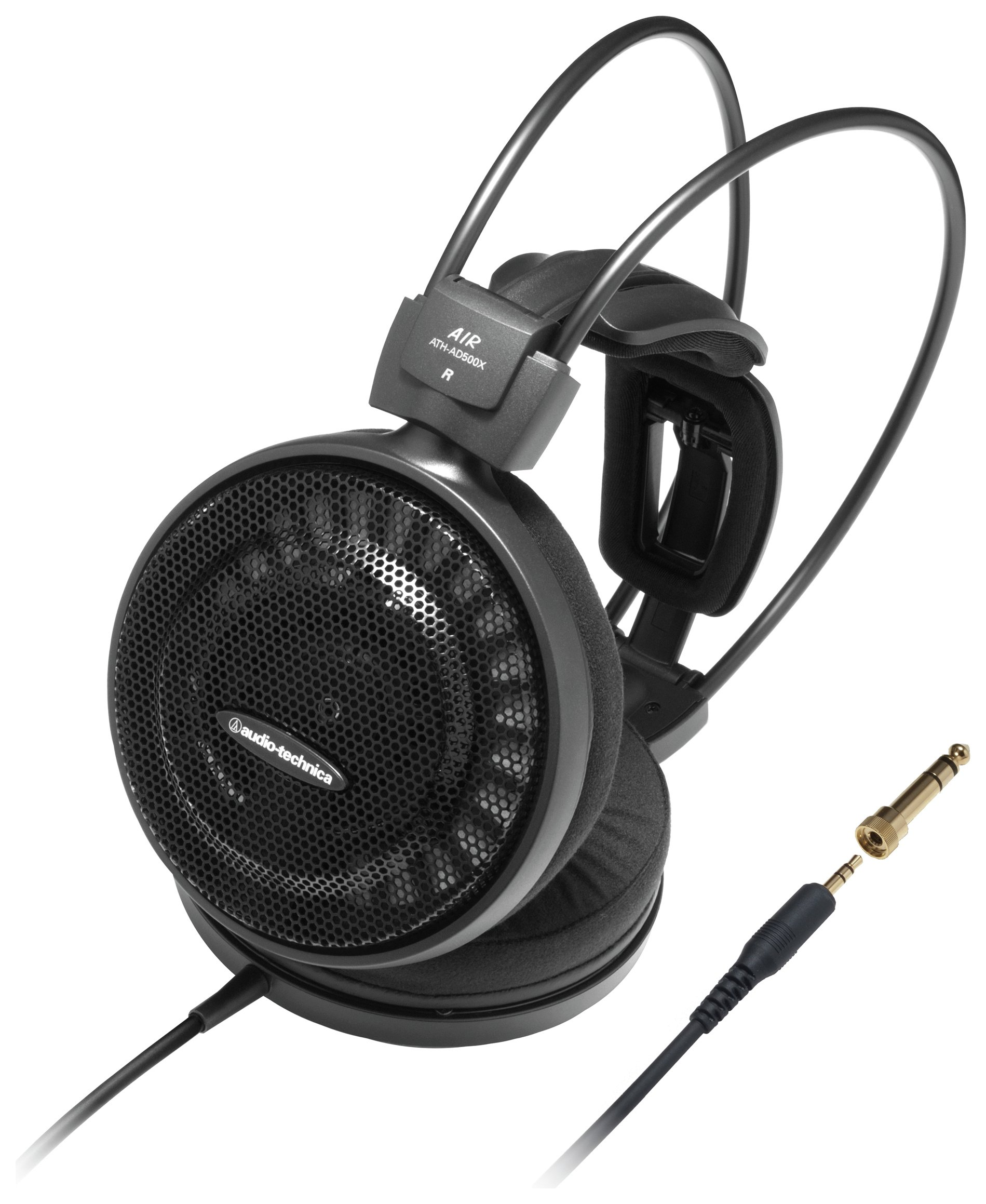 Image of Audio Technica ATH-AD500X On-Ear Headphones - Black.