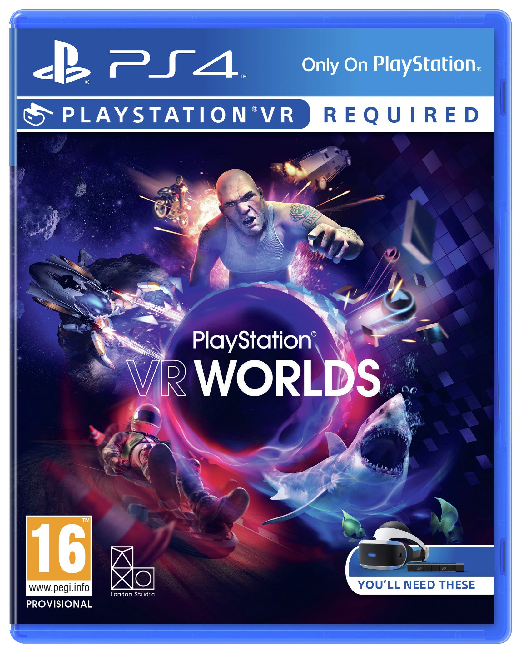 Playstation VR Worlds PS4 Game.