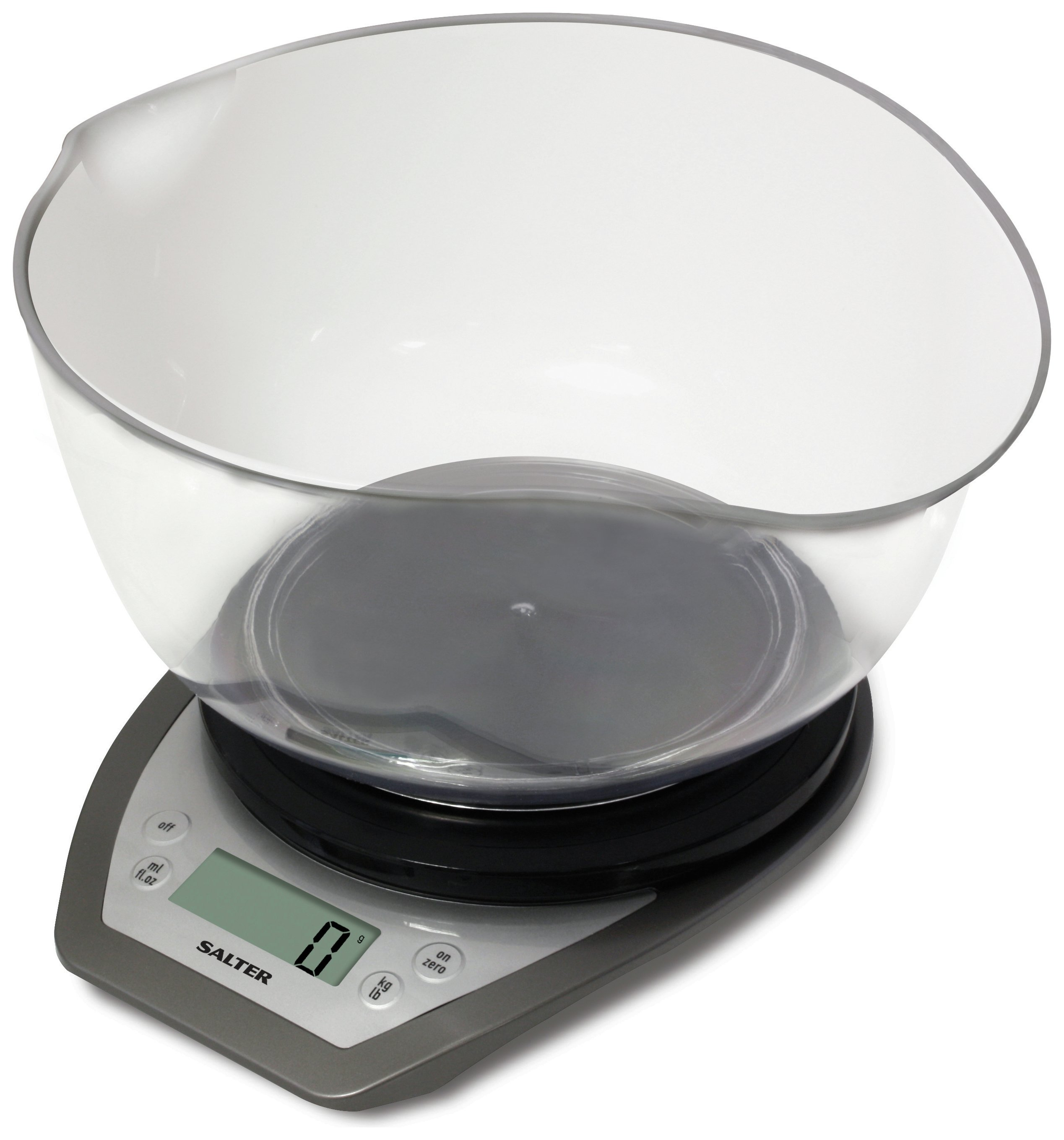 Salter Aquatronic Kitchen Scale and Bowl - Silver