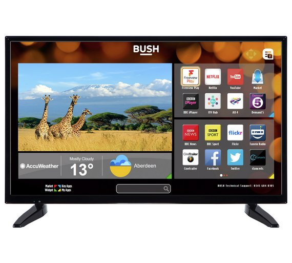 buy bush 32 inch hd ready smart tv televisions argos. Black Bedroom Furniture Sets. Home Design Ideas