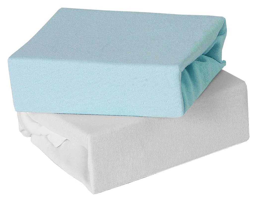 Image of Baby Elegance 2 Pack Fitted Cot Sheets- Blue.