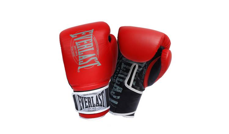 Everlast 14oz Leather Boxing Gloves - Red