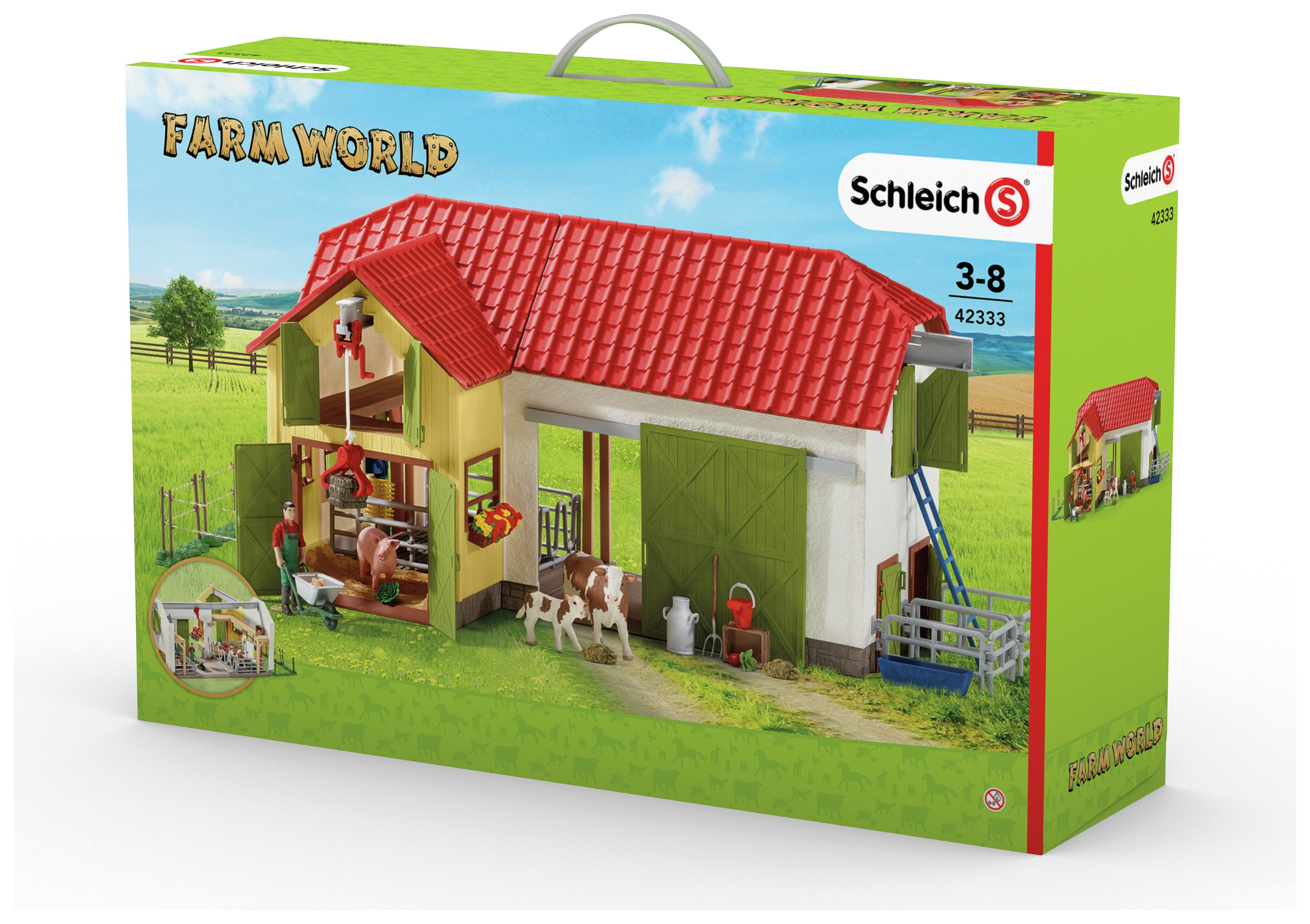 Image of Large Farm Playset with Animals and Accessories.