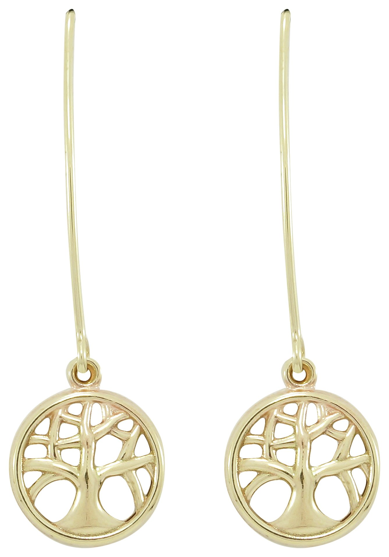 Image of 9 Carat Gold - Family Tree Marquise Earring.