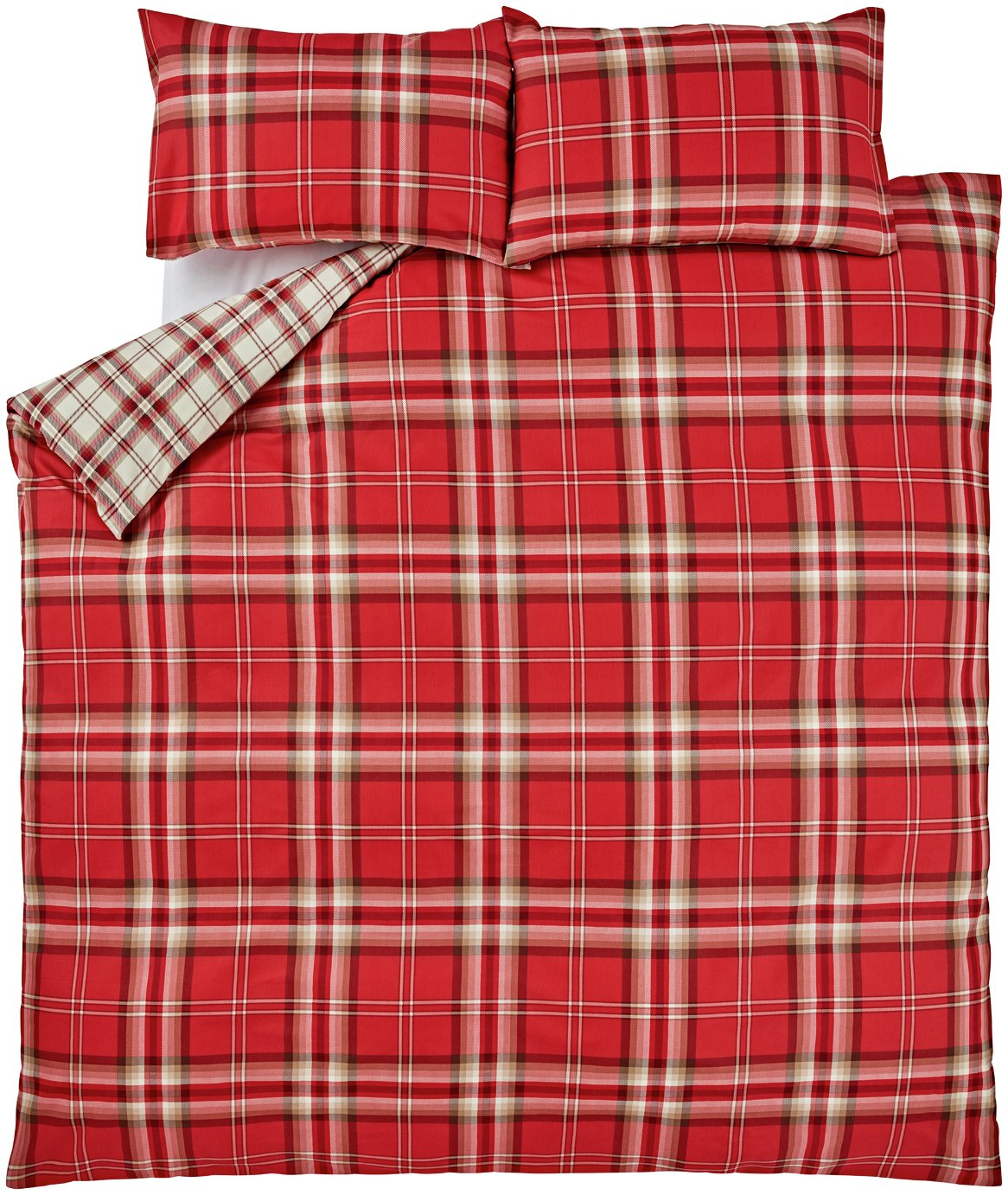 catherine lansfield kelso red bedding set  single
