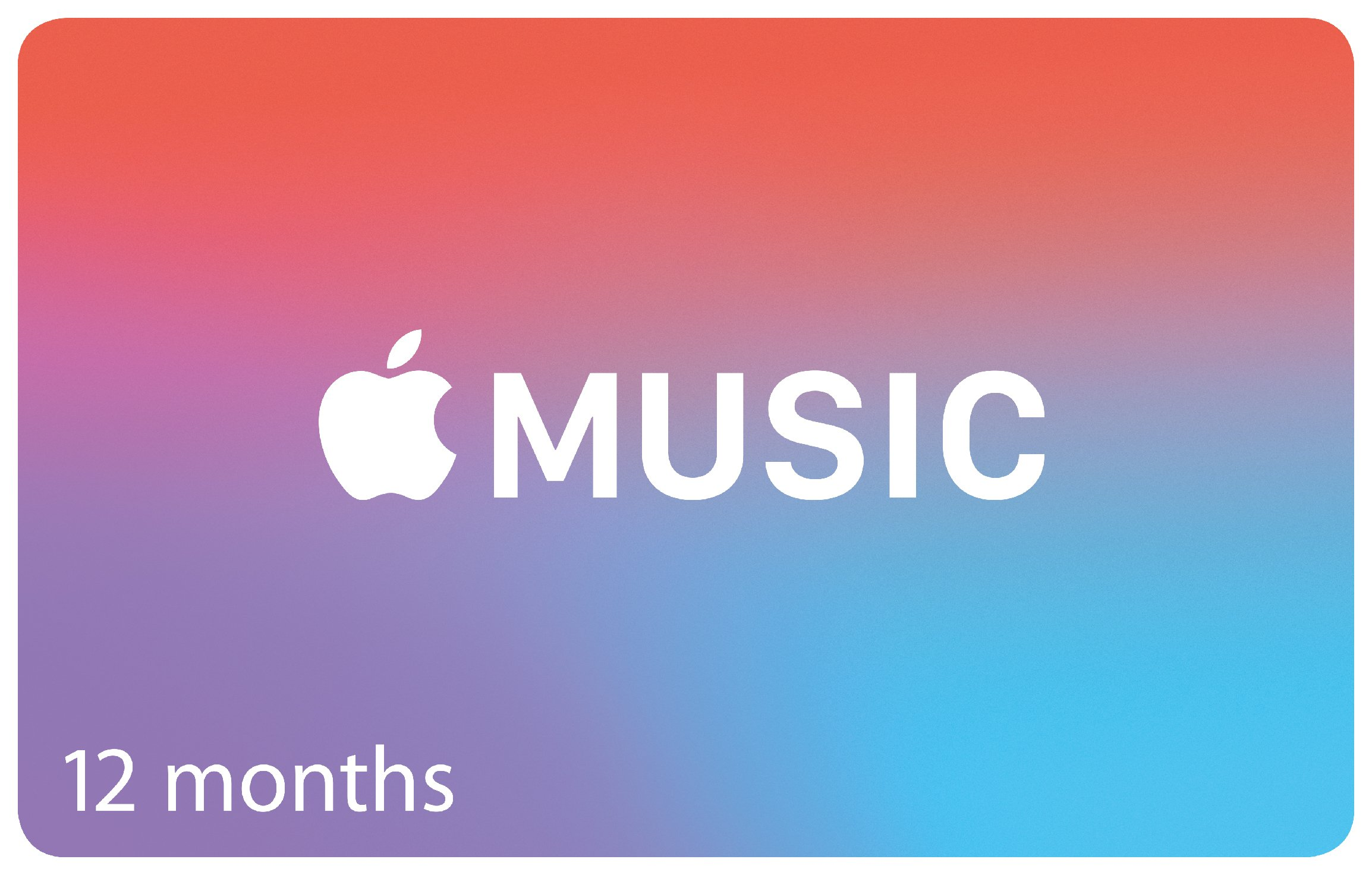 Apple Music 12 Months Subscription Card