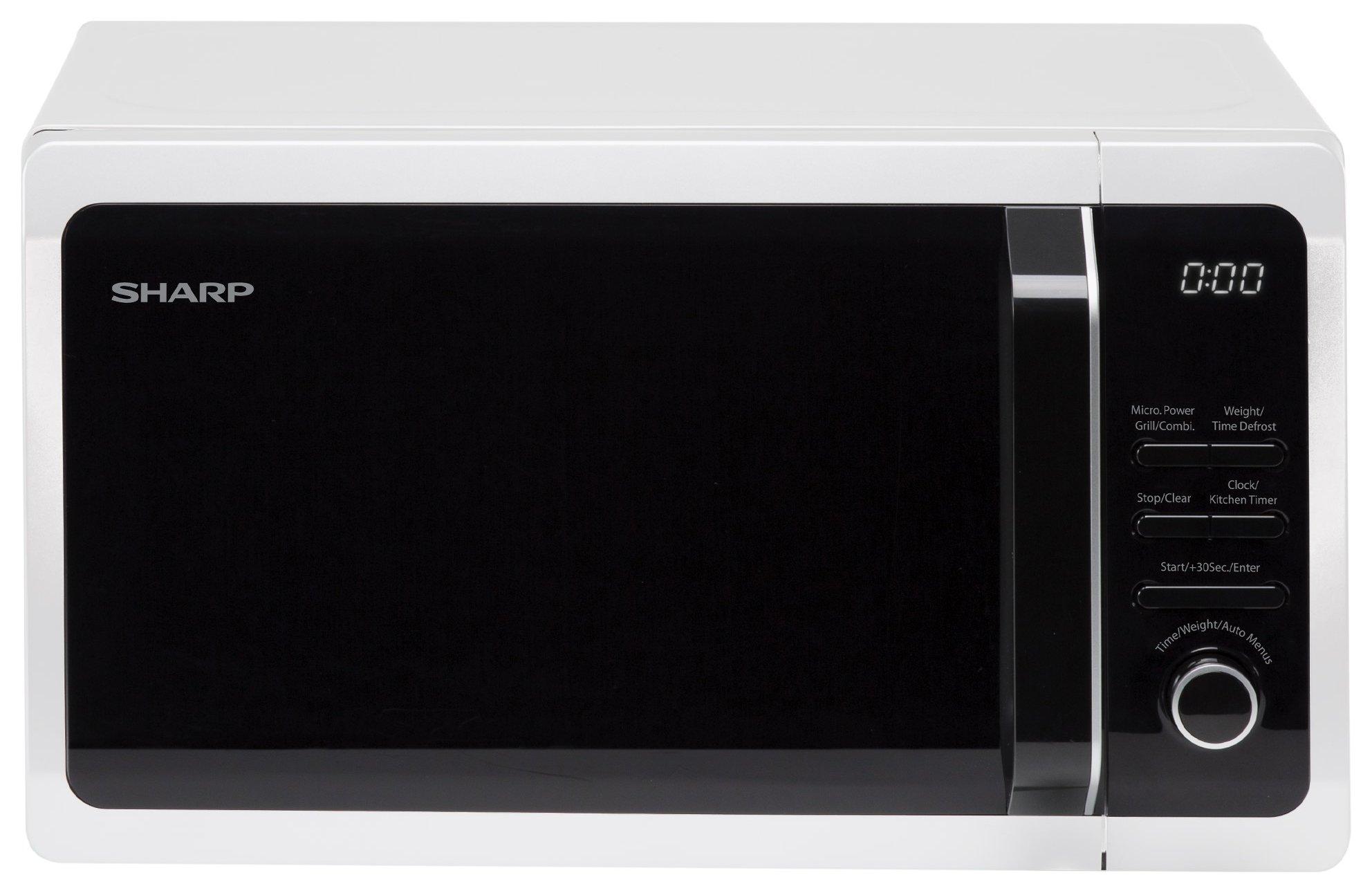Sharp 1000W Grill Microwave   R664WM - White