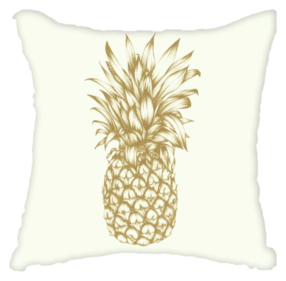 Image of Arthouse Tropics Copacabana Golden Pineapple Cushion.