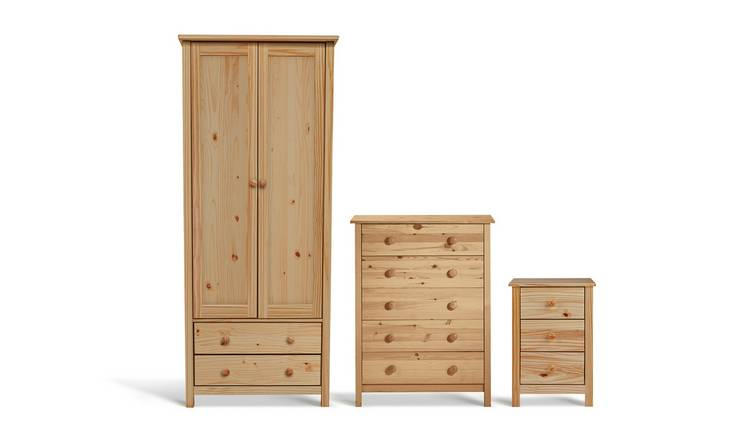 Habitat Scandinavia 3 Piece 2 Door Wardrobe Set - Pine