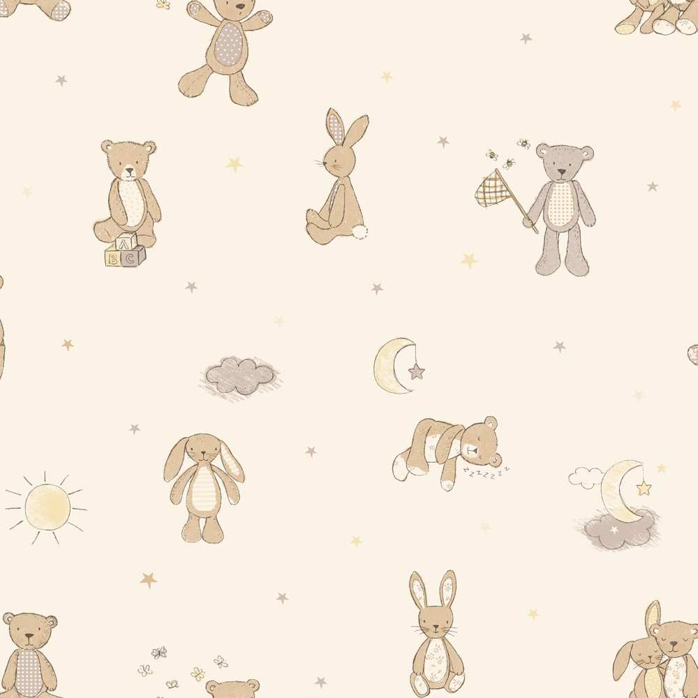 arthouse imagine fun bear hugs neutral wallpaper.