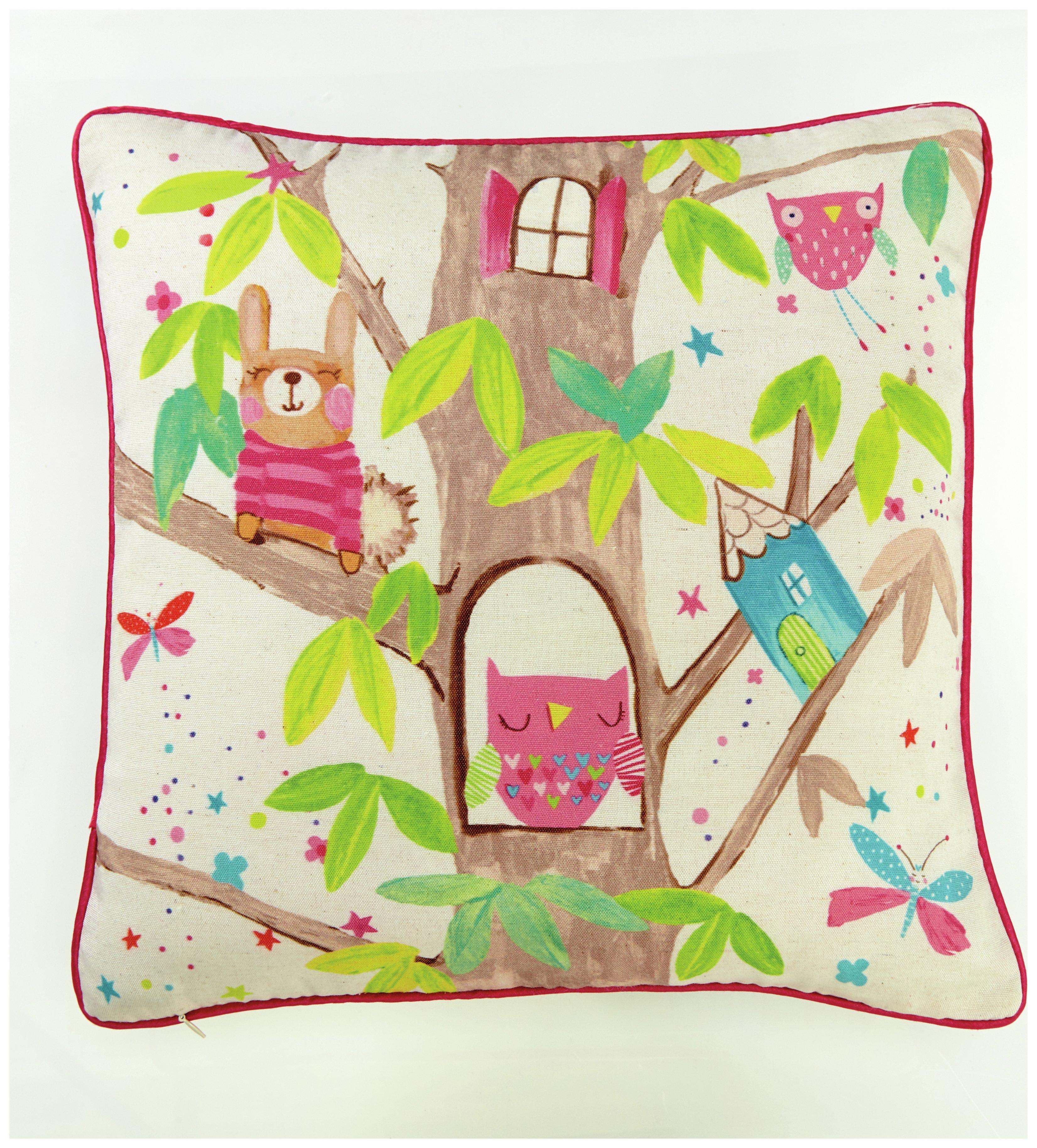 Image of Arthouse Imagine Fun Enchanted Fairies Cushion - Pink