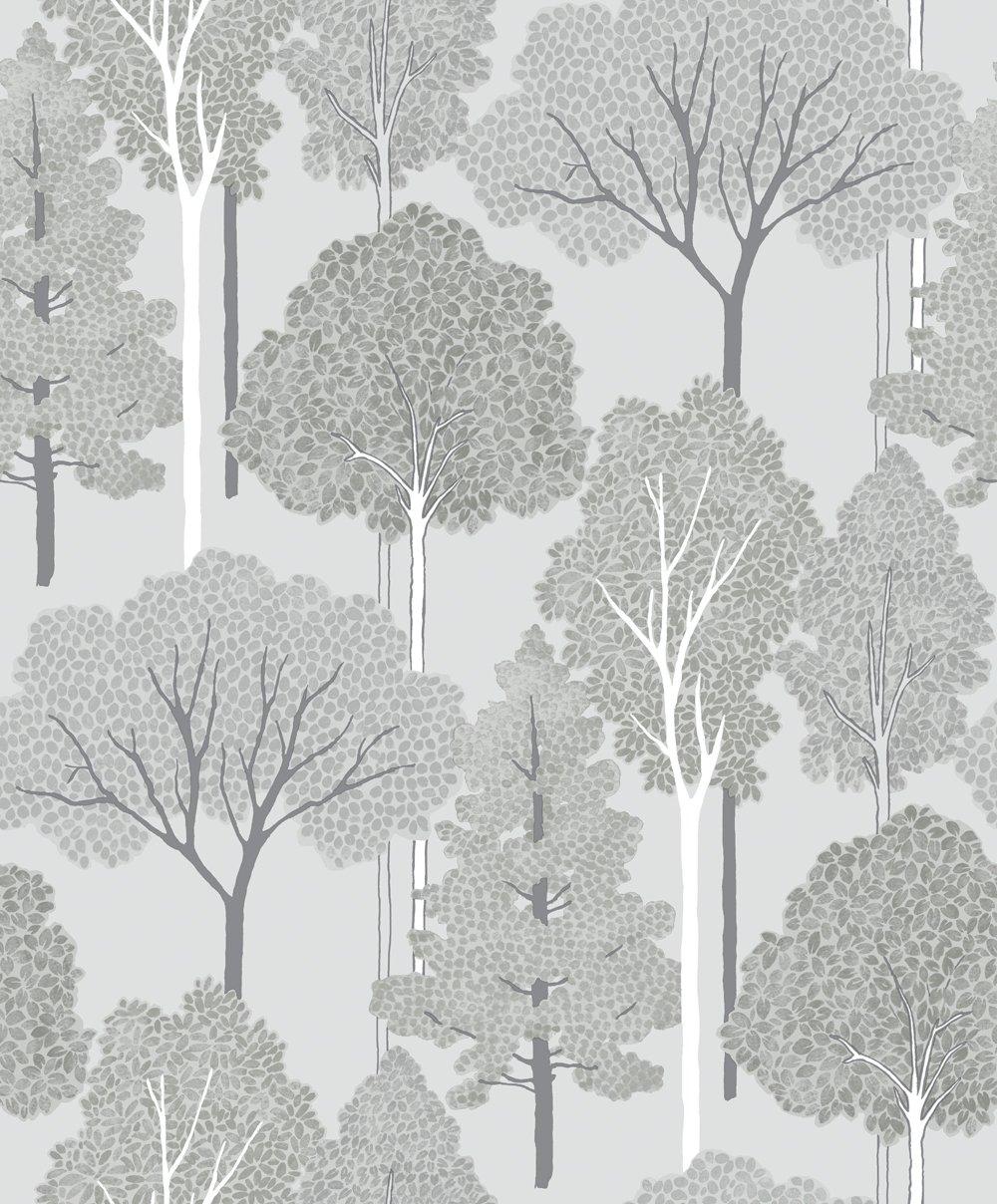 Image of Arthouse Imagine Ellwood Silver Wallpaper.