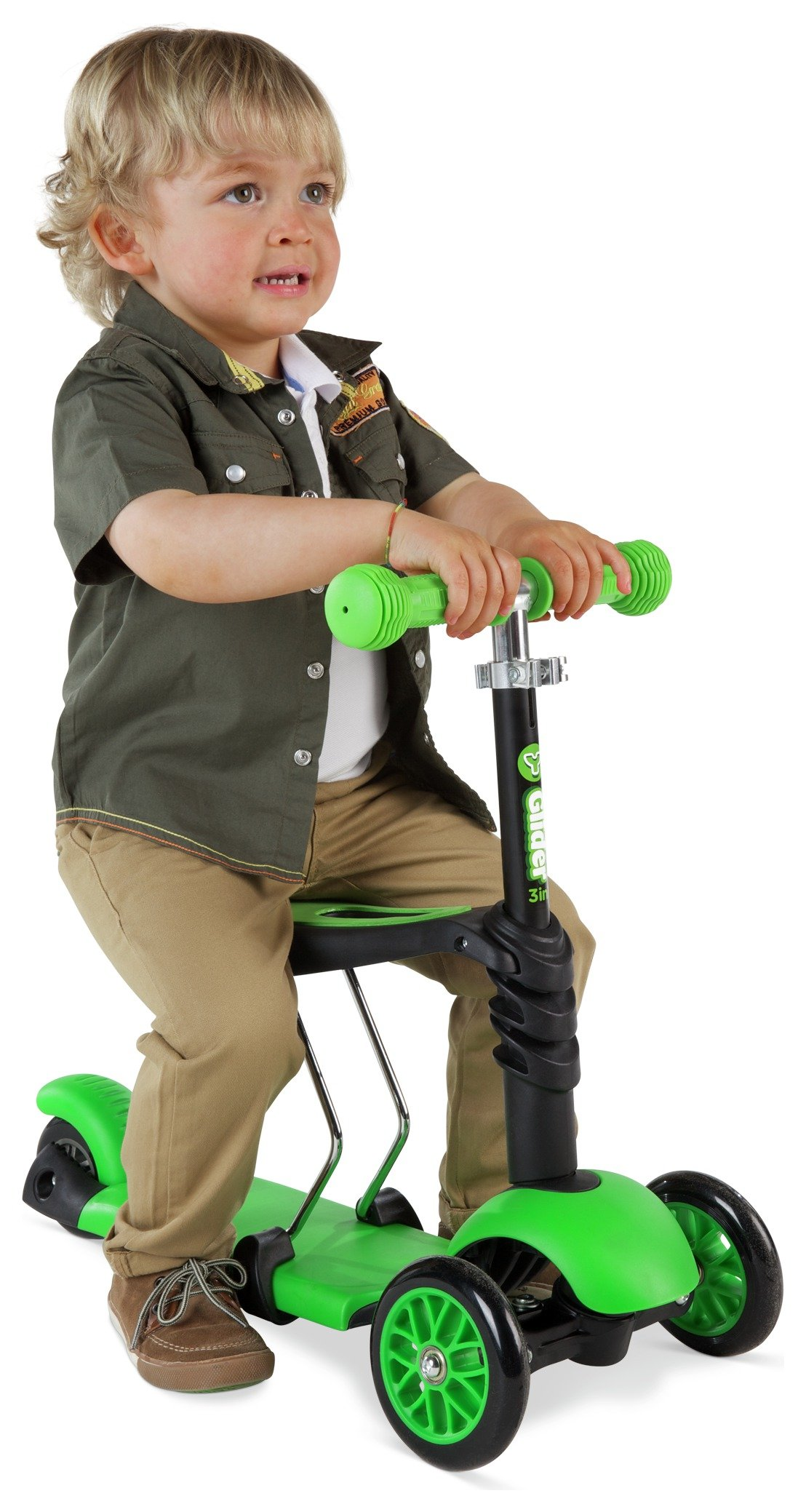 Buy Yglider 3 In 1 Scooter Black Green Scooters Argos