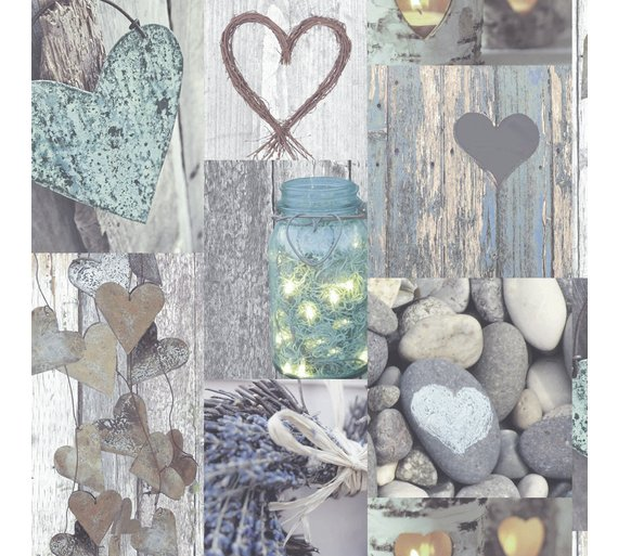 Arthouse Opera Rustic Heart Natural Wallpaper