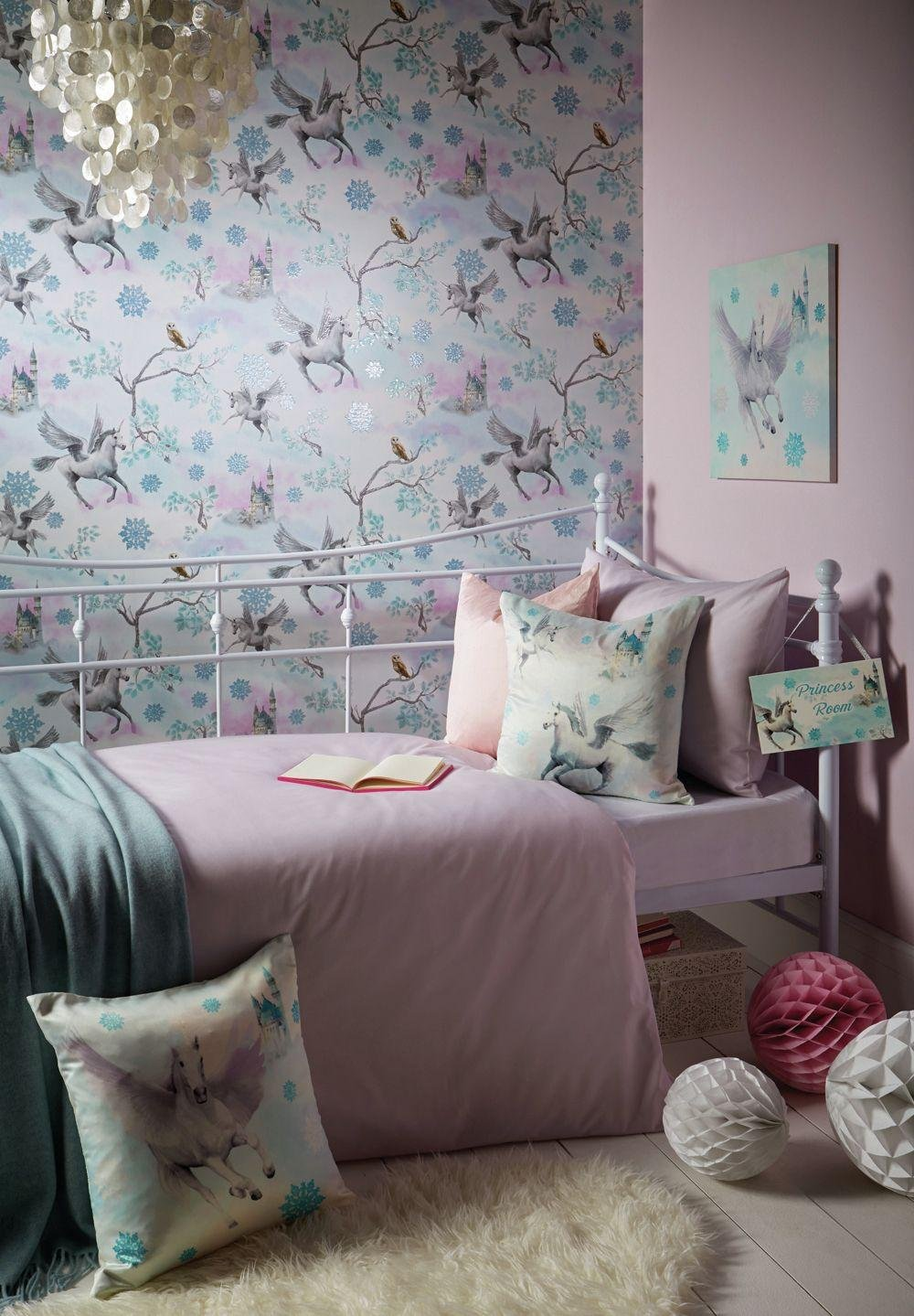 Image of Arthouse Imagine Fun Fairytale Ice Blue Wallpaper.