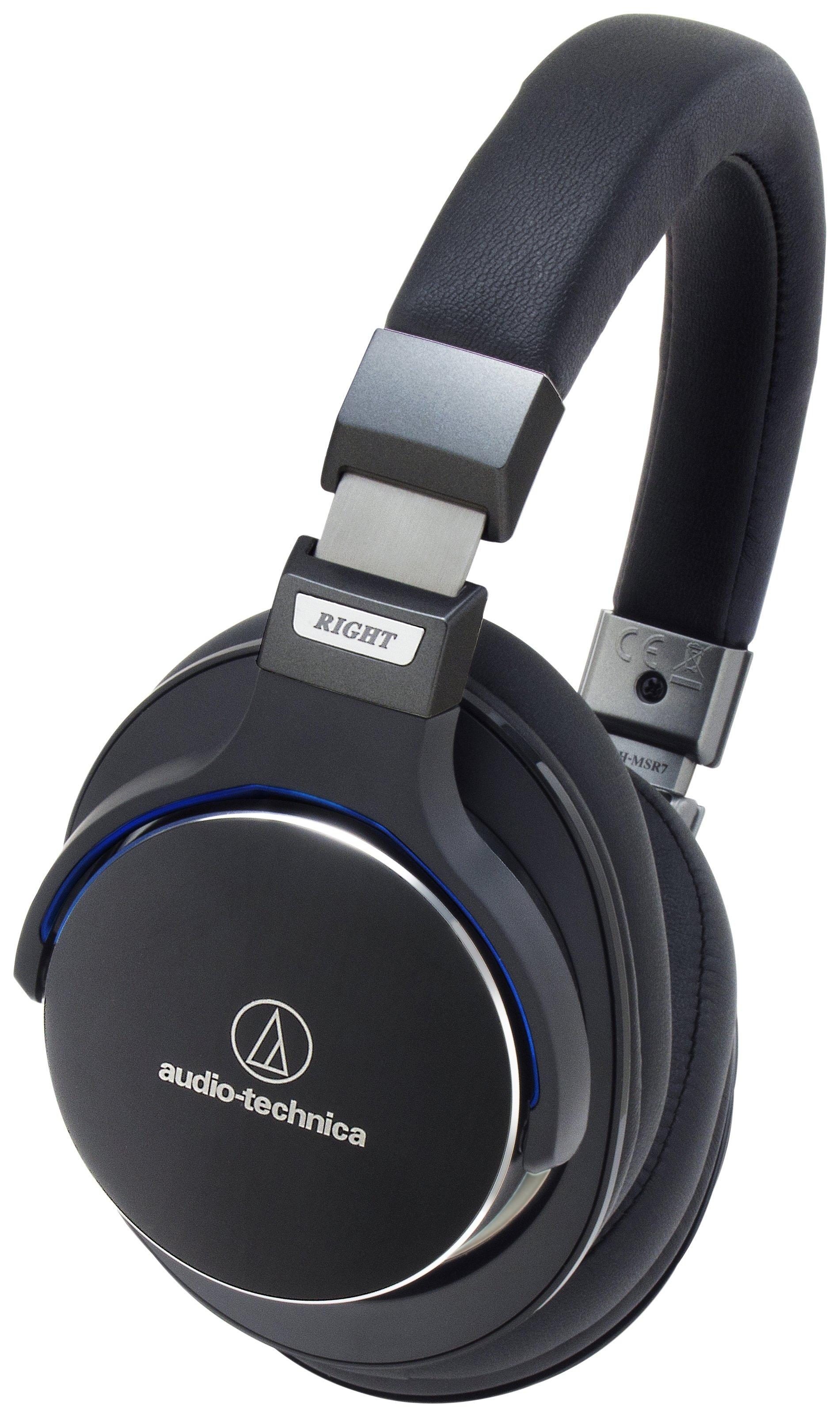 Image of Audio Technica ATH-MSR7BK On-Ear Headphones - Black.