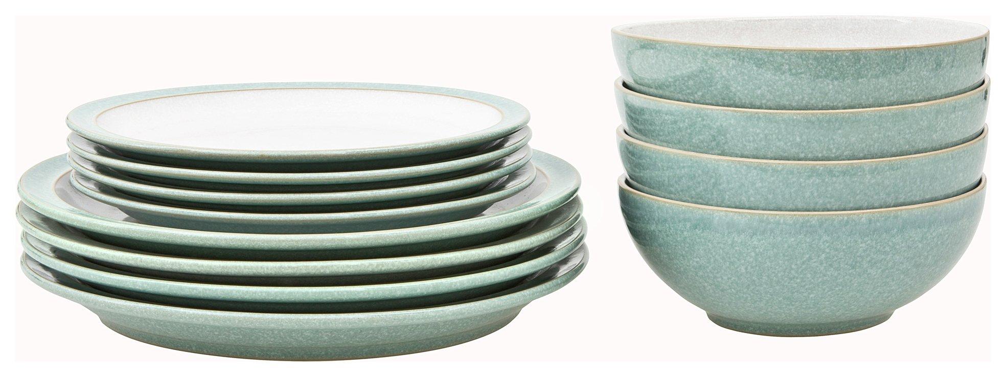 Denby Elements 12 Piece Ceramic Tableware - Green
