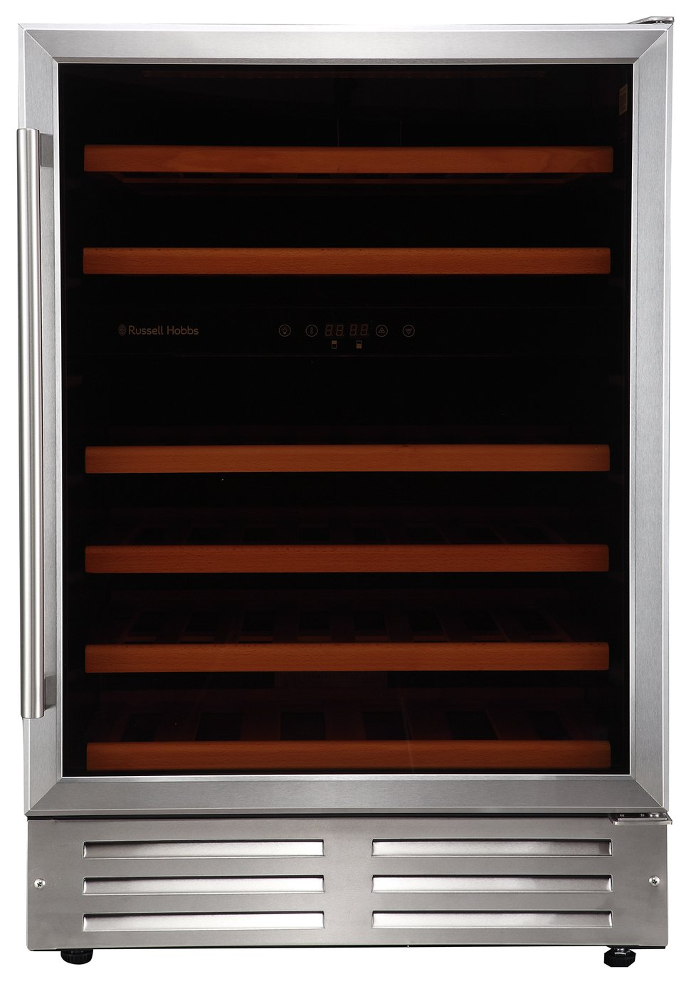 Russell Hobbs 46 Bottle Wine Cooler - Stainless Steel.