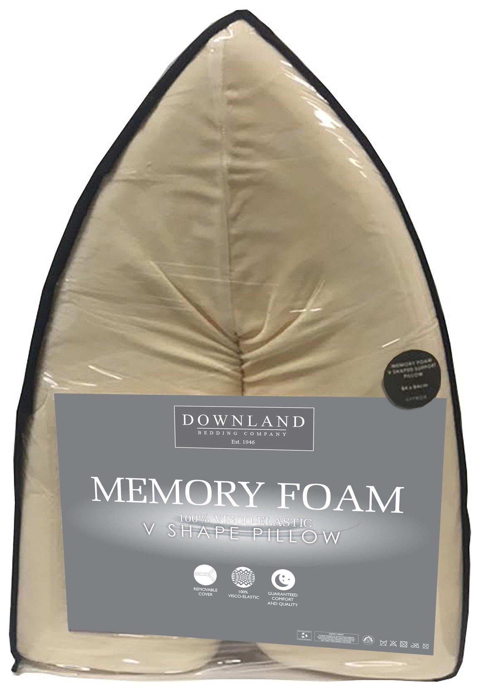 Image of Downland V Shaped Memory Foam Pillow